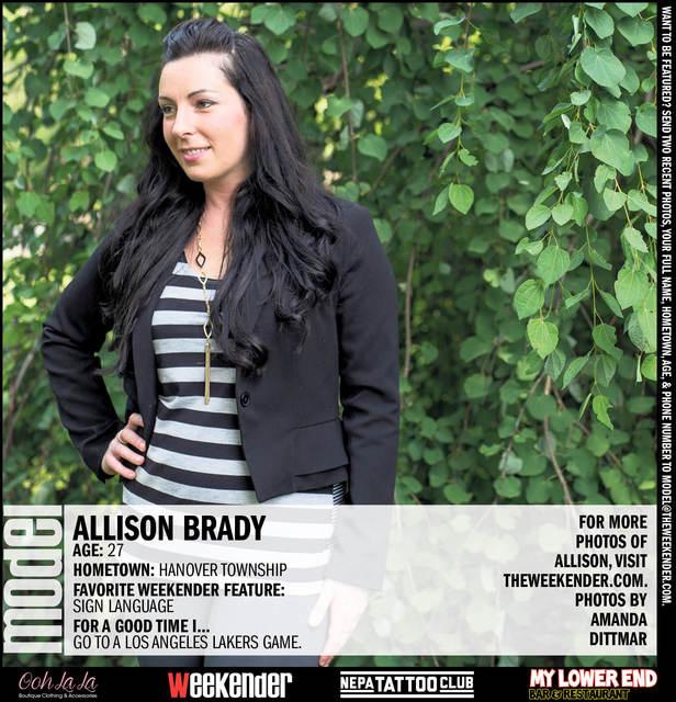 Model of the Week: Allison Brady