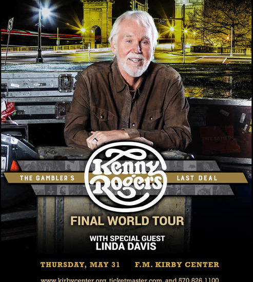 Country icon Kenny Rogers to perform at F.M. Kirby Center in Wilkes-Barre