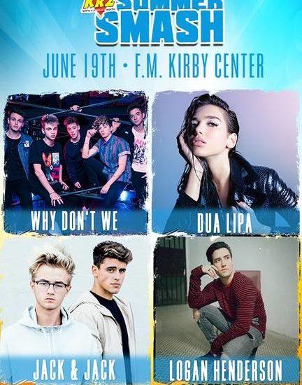 Why Don't We, Dua Lipa to perform at 98.5KRZ Summer Smash at Kirby Center