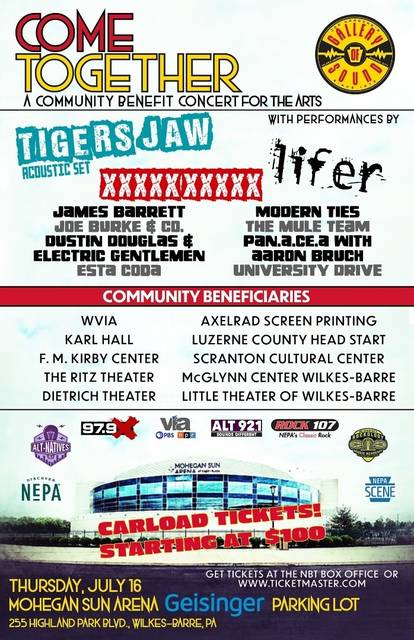 Arena event, 'Come Together,' a community benefit concert for the arts