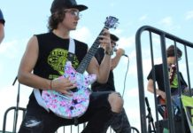 Members of the Rockology Americans shred to Good Charlotte's 'Lifestyles of the Rich & Famous' during the final Rockin' the County concert.                                  Patrick Kernan | Times Leader