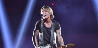This Nov. 14, 2018 file photo shows Keith Urban performing at the 52nd annual CMA Awards in Nashville, Tenn. Urban's latest album 'The Speed of Now Part 1' was released Friday.                                  AP photo