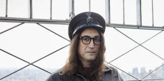 Sean Ono Lennon poses for a portrait on the observation deck of the Empire State building on Thursday Oct. 8, 2020, in New York to promote an album being released of his father's best known songs. On Friday, which would have been John Lennon's 80th birthday, 'Gimme Some Truth. The Ultimate Mixes' was released. It includes 36 tracks hand-picked by Yoko Ono and Sean Ono Lennon, who serve as executive producer and producer on the project.                                  AP photo