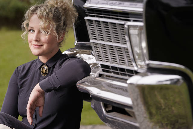 """<p>Country singer Cam poses in Nashville, Tenn., on Wednesday, Sept. 23, 2020 to promote her second album """"The Otherside."""" (AP Photo/Mark Humphrey)</p>"""
