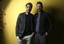 "FILE - Writer/director Michael Angelo Covino, left, and actor Kyle Marvin pose during a portrait session to promote their film ""The Climb"" at the 72nd international film festival, Cannes, southern France, on May 18, 2019. (Photo by Joel C Ryan/Invision/AP, File)"