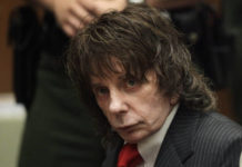 In this May 29, 2009 file photo, music producer Phil Spector sits in a courtroom for his sentencing in Los Angeles. Spector, the eccentric and revolutionary music producer who transformed rock music with his 'Wall of Sound' method and who was later convicted of murder, died Saturday at age 81.                                  AP photo